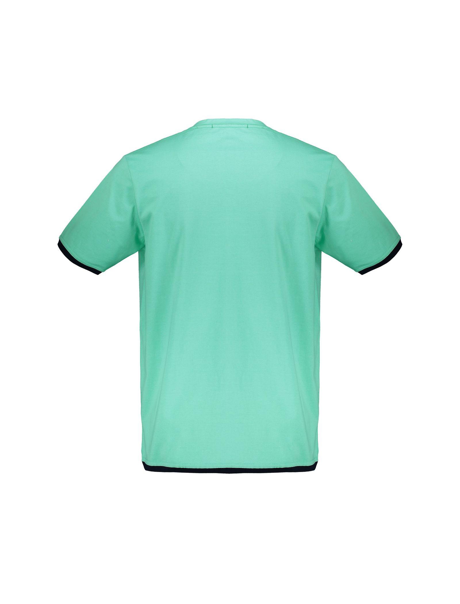 تی شرت و شلوار نخی راحتی مردانه - آر اِن اِس - سبز آبي - 3