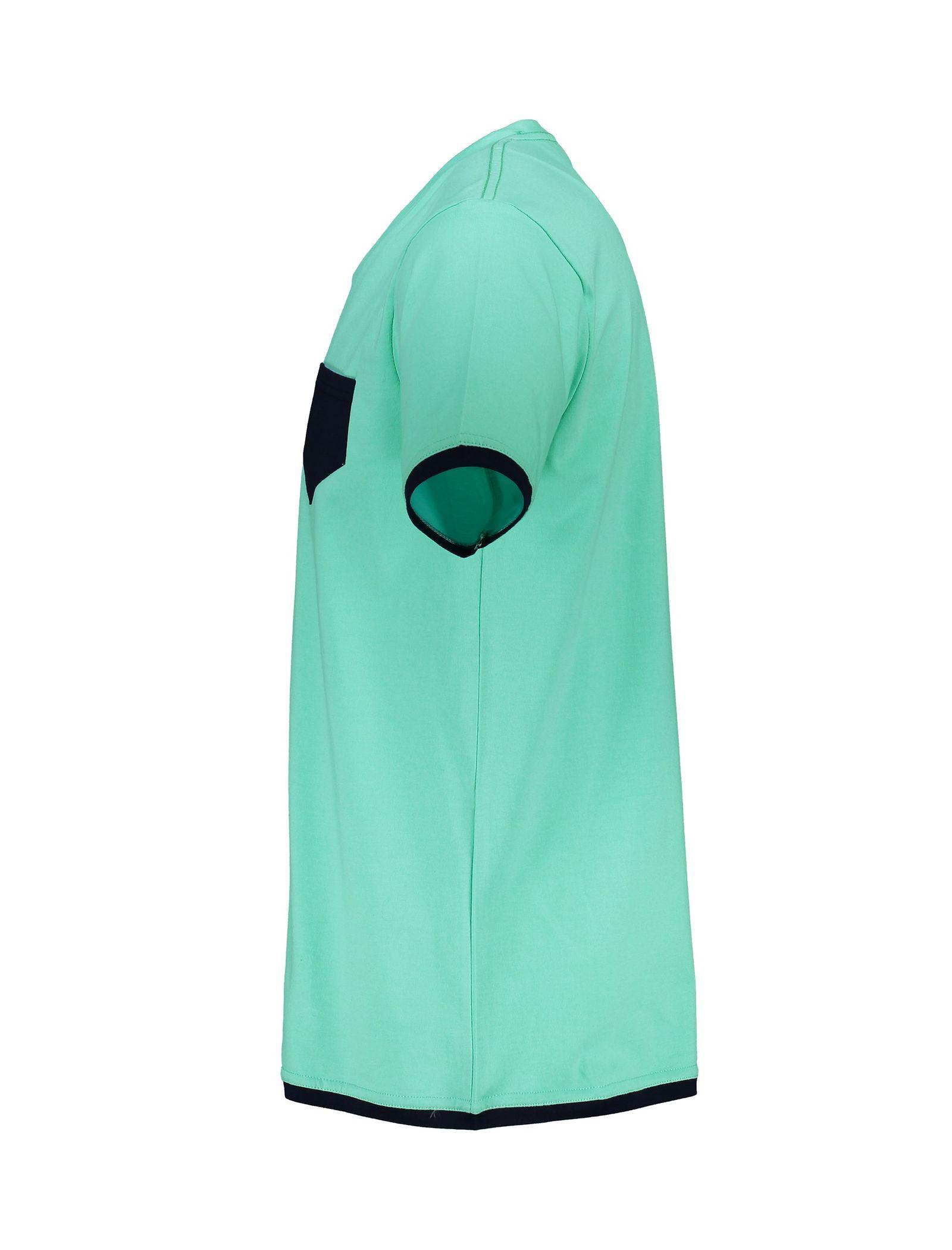 تی شرت و شلوار نخی راحتی مردانه - آر اِن اِس - سبز آبي - 4