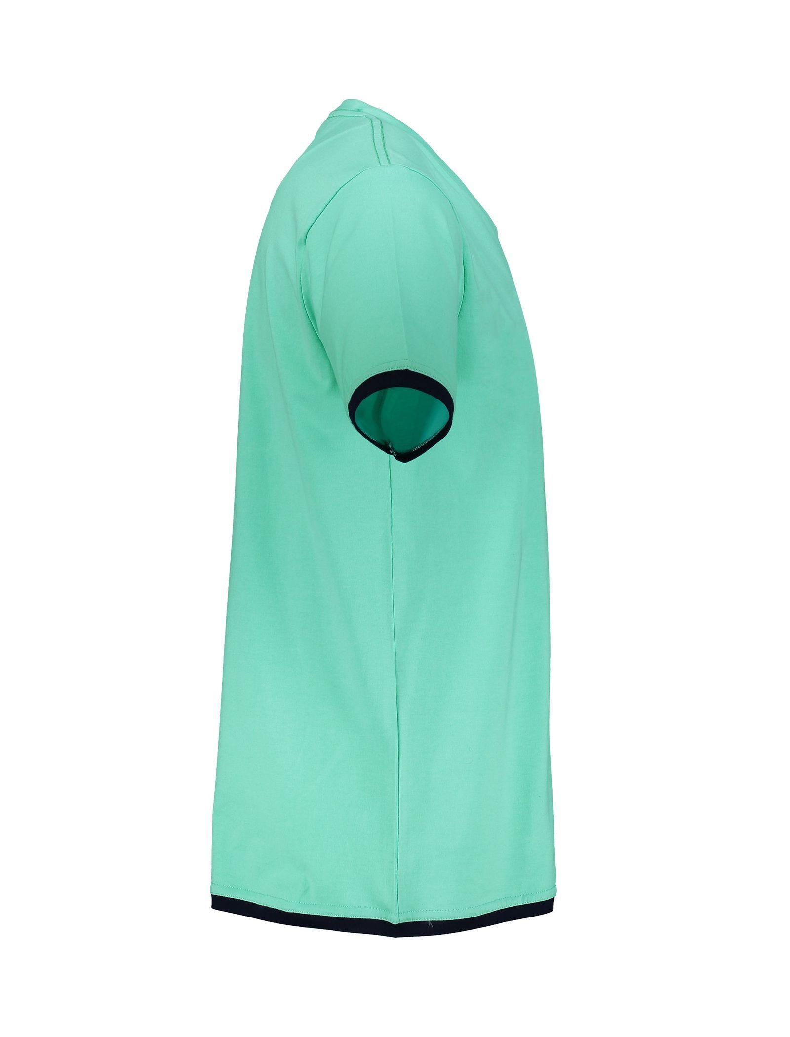 تی شرت و شلوار نخی راحتی مردانه - آر اِن اِس - سبز آبي - 5