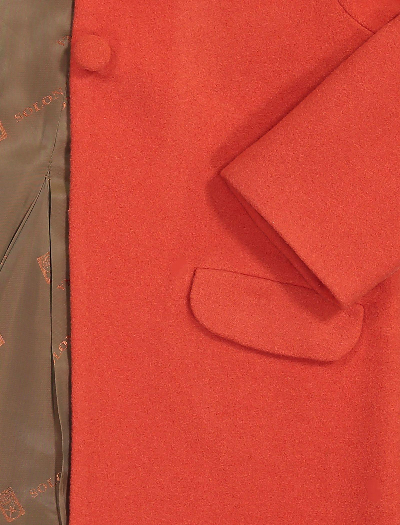 پالتو پشمی کوتاه دخترانه مدل فرانک - دایان - نارنجي - 3