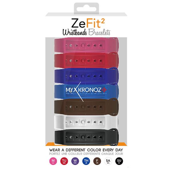پک 7 عددی بند مچبند هوشمند مای کرونوز مدل ZeFit2 X7 Classic