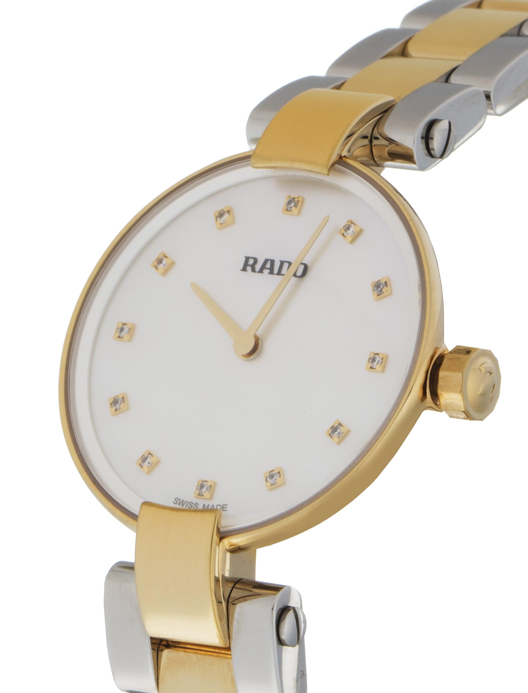 ساعت مچی عقربه ای زنانه - رادو - نقره اي و طلايي - 2