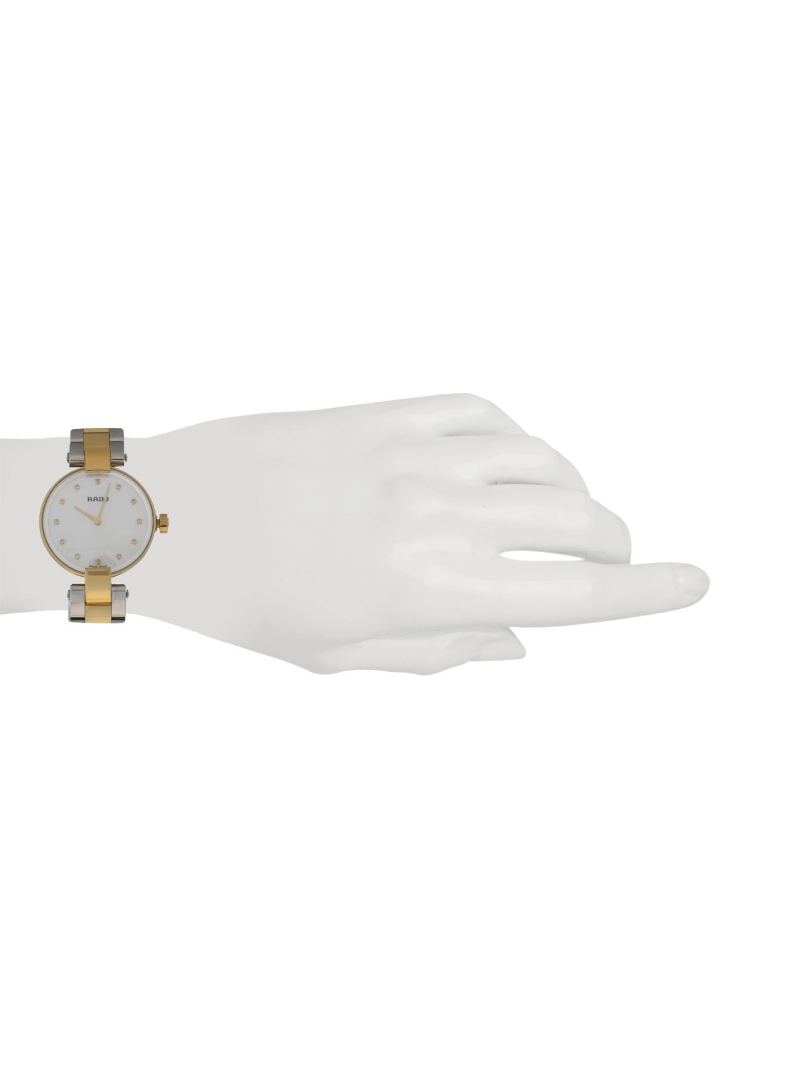 ساعت مچی عقربه ای زنانه - رادو - نقره اي و طلايي - 4