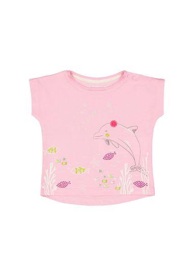تی شرت نخی یقه گرد نوزادی دخترانه - اس.اولیور