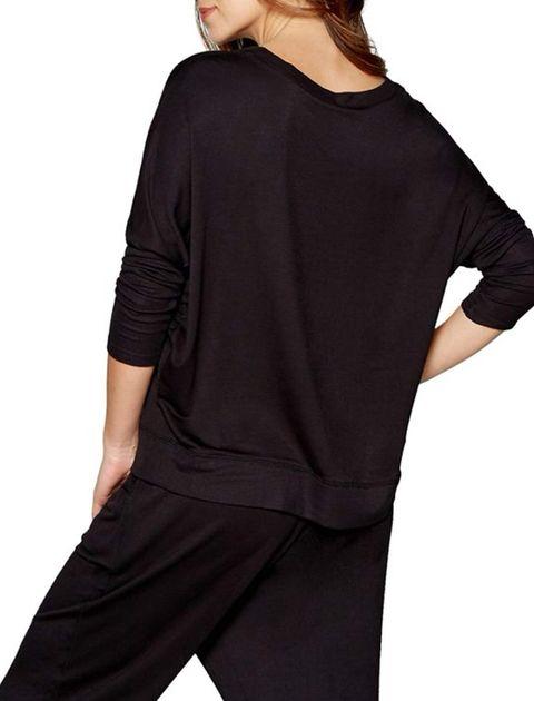 تی شرت راحتی ویسکوز زنانه - مشکي - 2