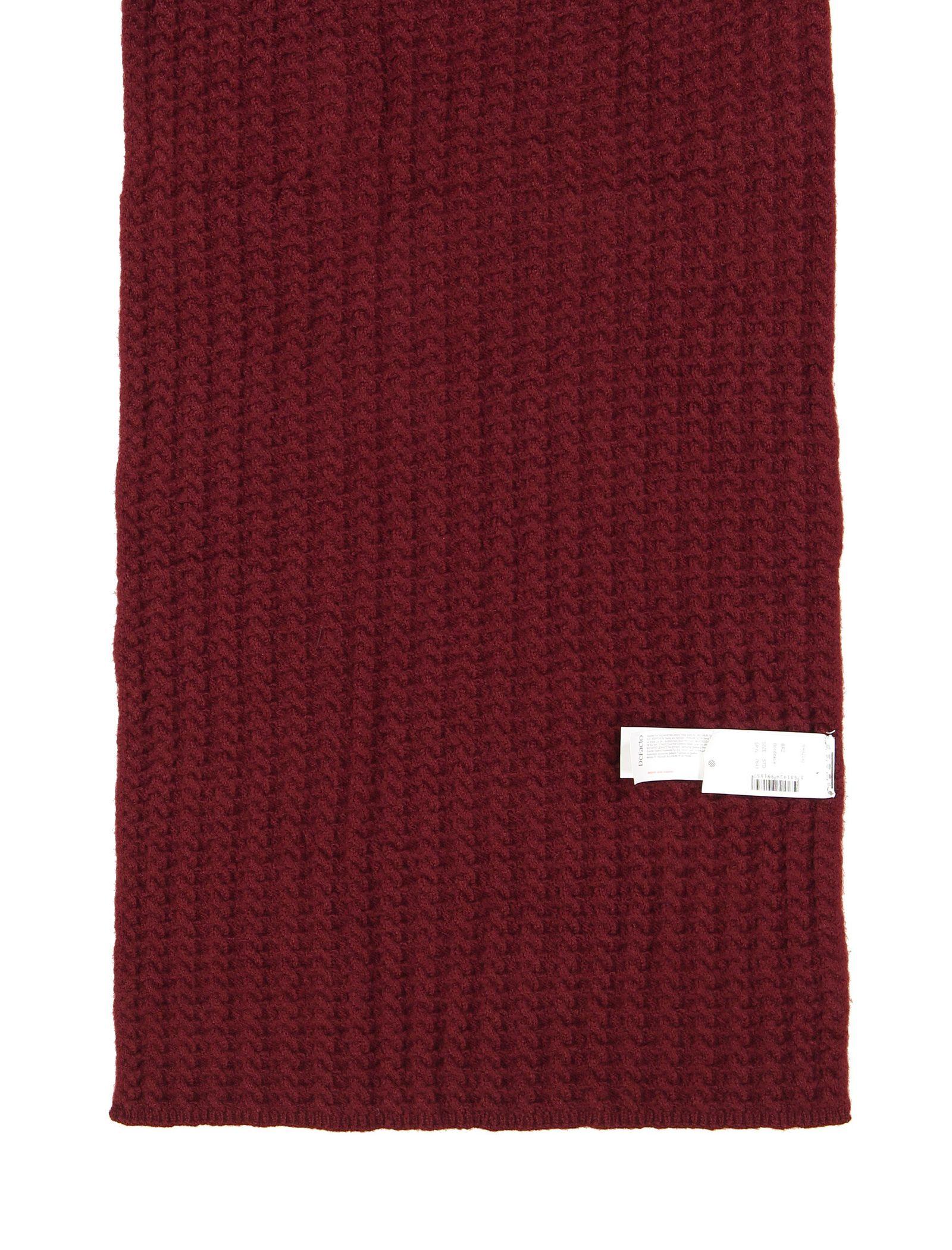 شال گردن ساده زنانه - دفکتو - زرشکي - 2