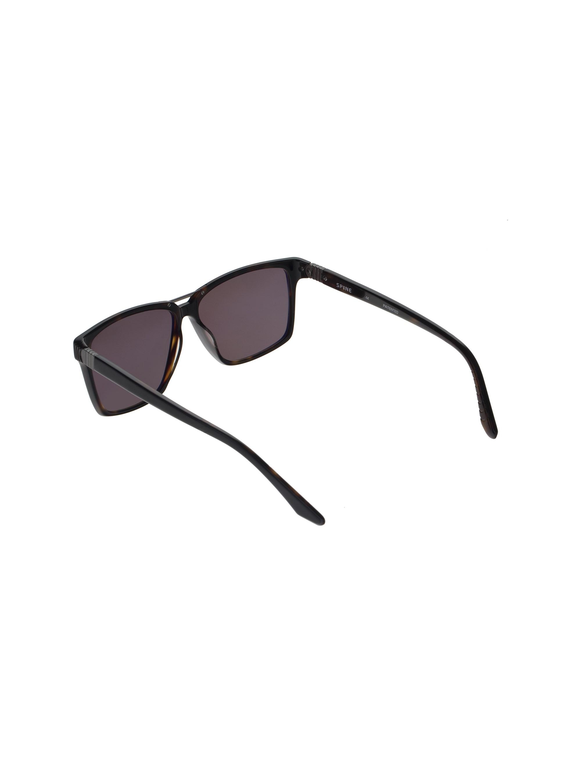 عینک آفتابی ویفرر مردانه - مشکي و قهوه اي - 4