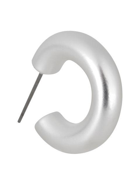 گوشواره حلقه ای زنانه - پی سز - نقره اي - 2