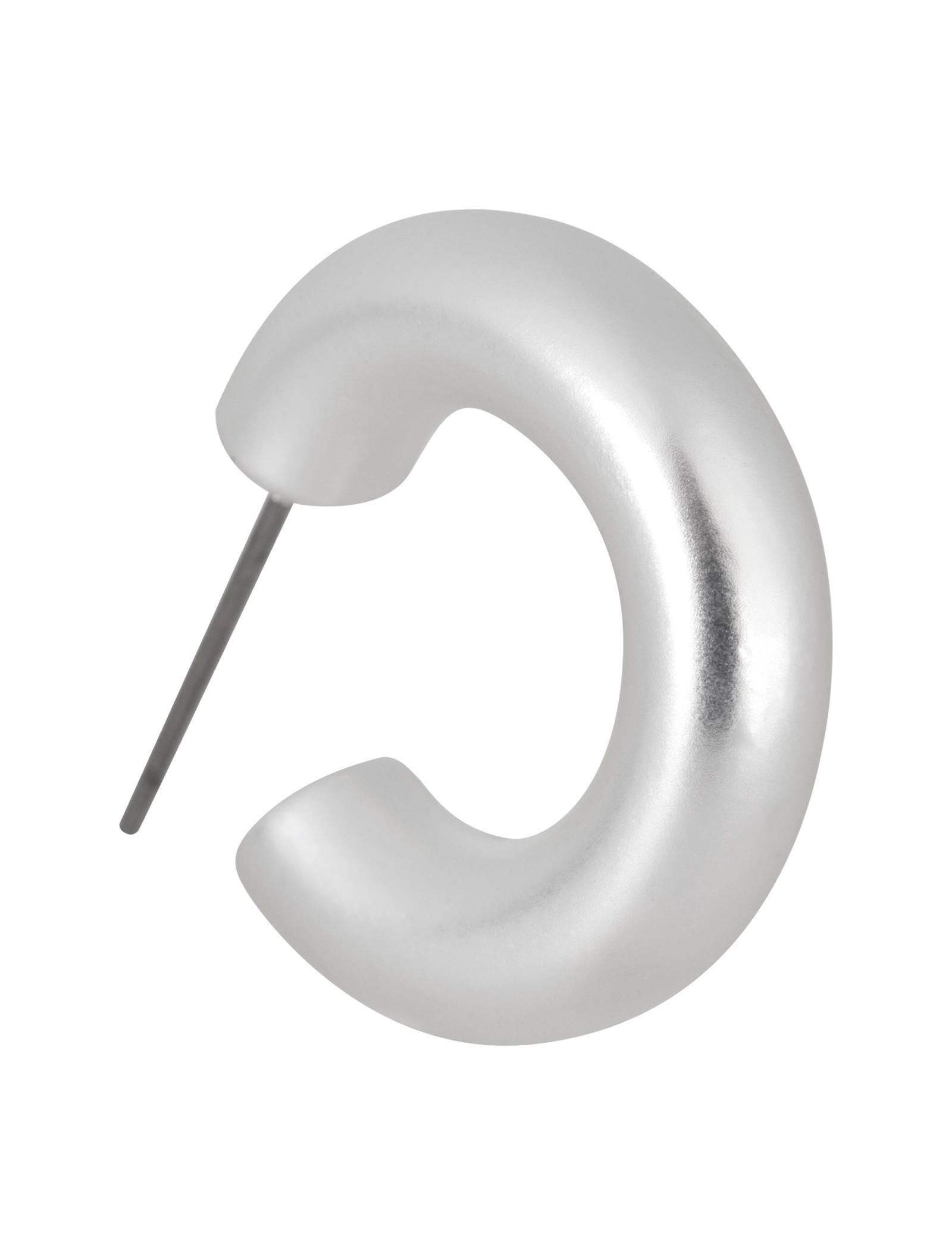 گوشواره حلقه ای زنانه - پی سز تک سایز - نقره اي - 2
