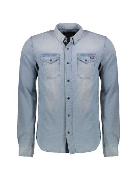 پیراهن جین آستین بلند مردانه Dragway - طوسي  - 1