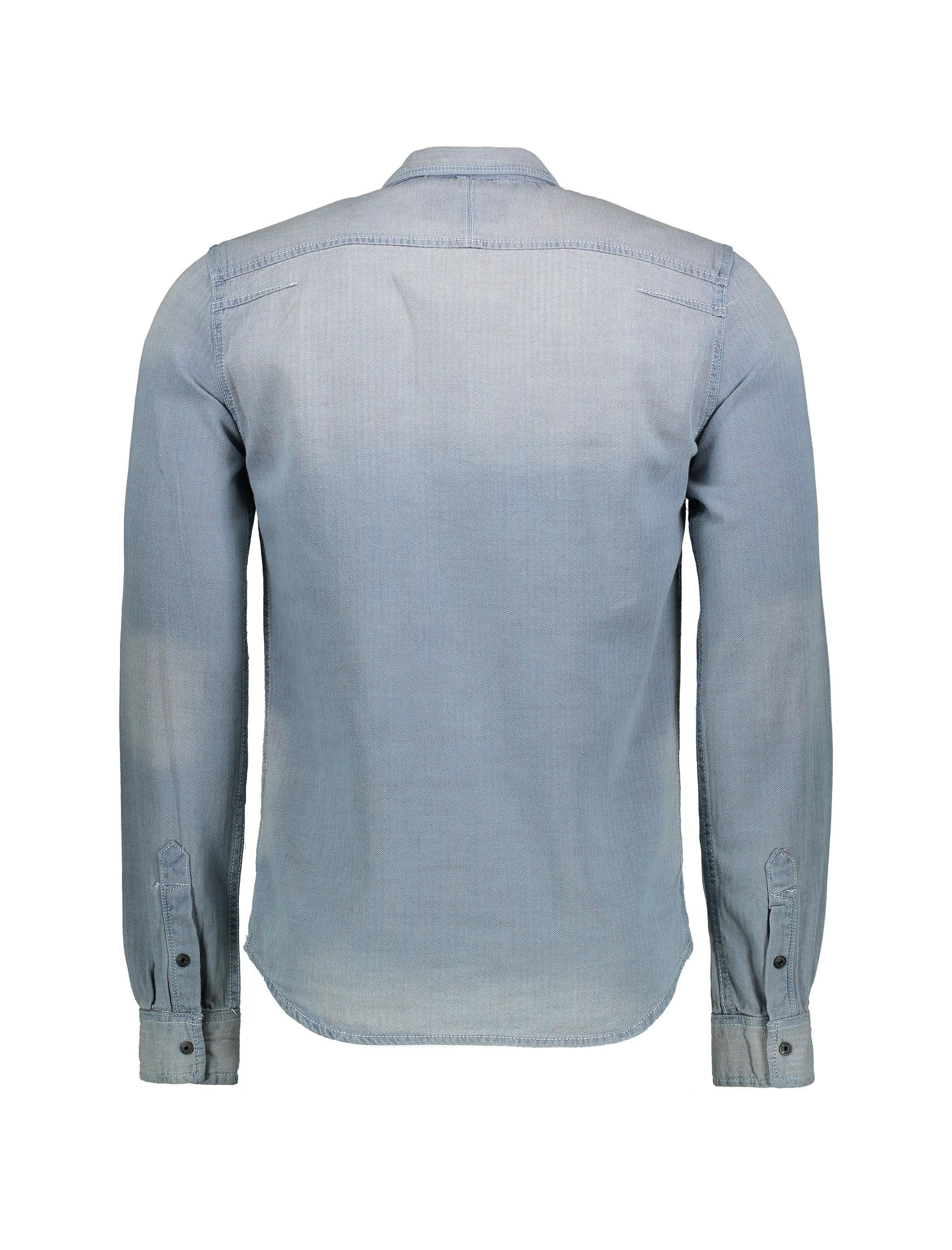 پیراهن جین آستین بلند مردانه Dragway - طوسي  - 2