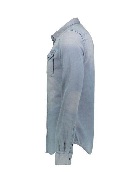 پیراهن جین آستین بلند مردانه Dragway - طوسي  - 3