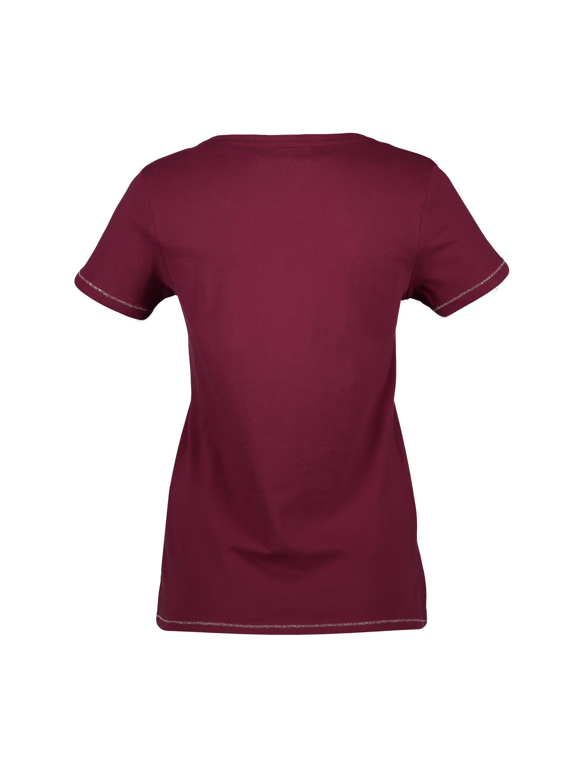 تی شرت و شلوار راحتی نخی زنانه - لانژ اند اسلیپ - قرمز - 3