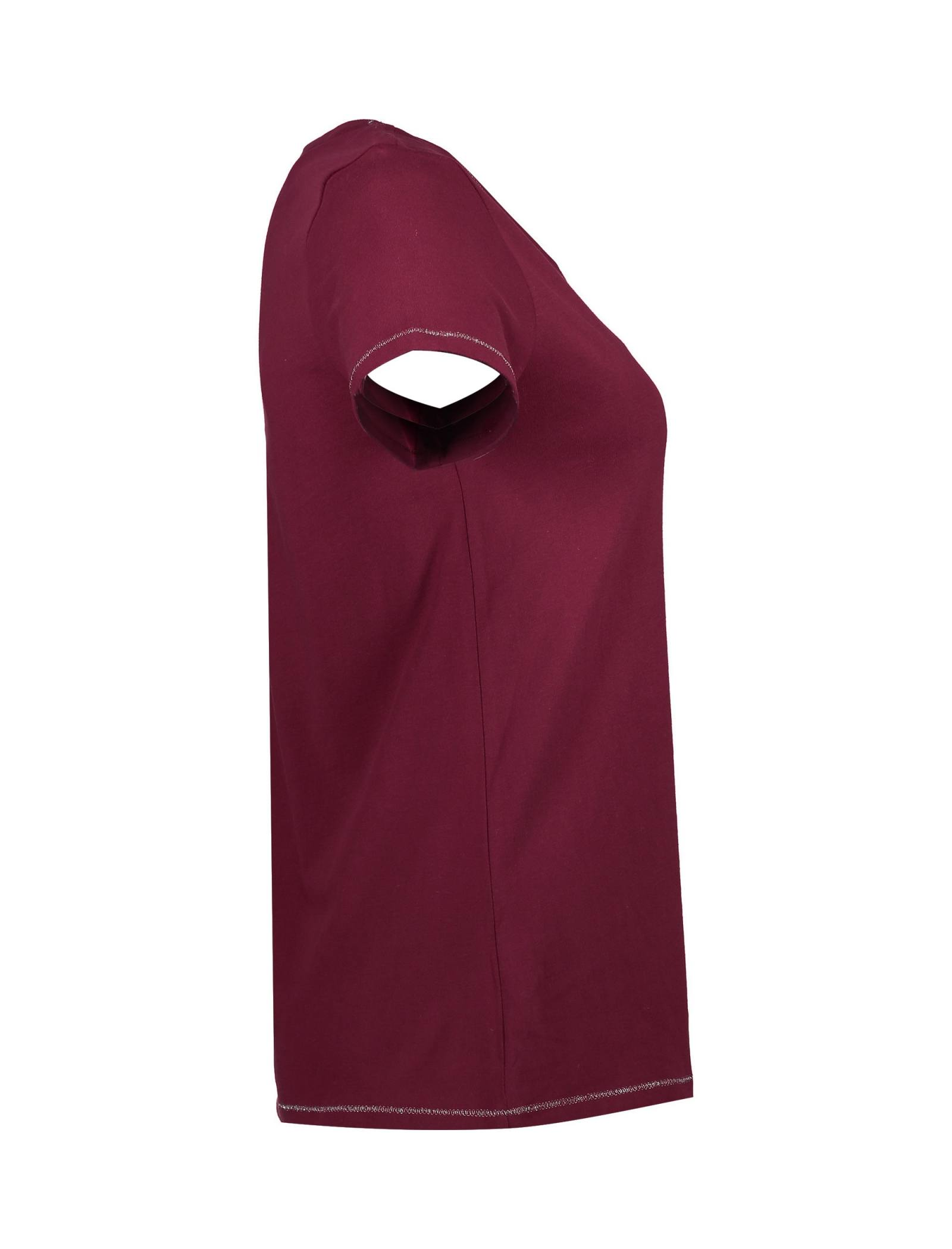 تی شرت و شلوار راحتی نخی زنانه - لانژ اند اسلیپ - قرمز - 4