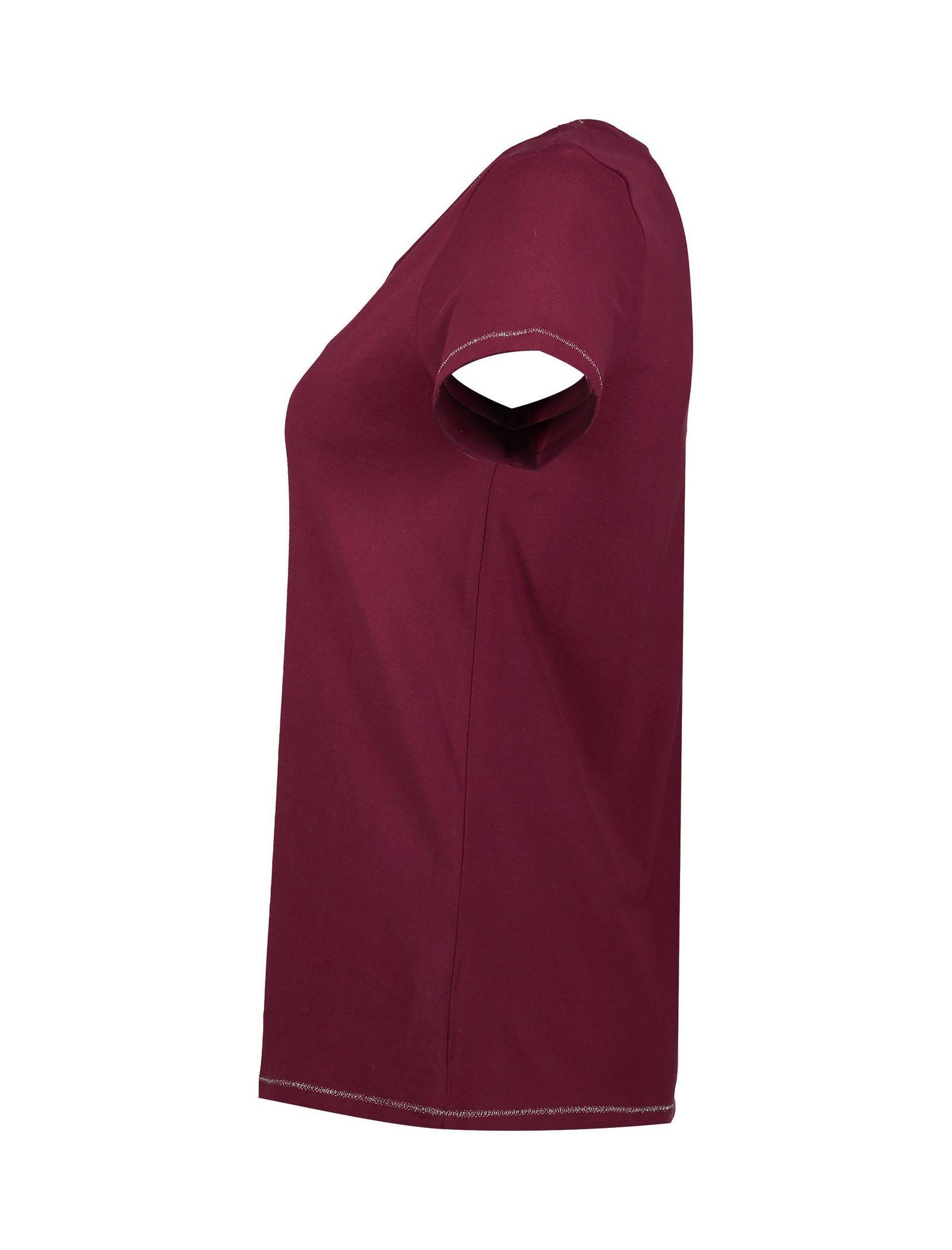 تی شرت و شلوار راحتی نخی زنانه - لانژ اند اسلیپ - قرمز - 5