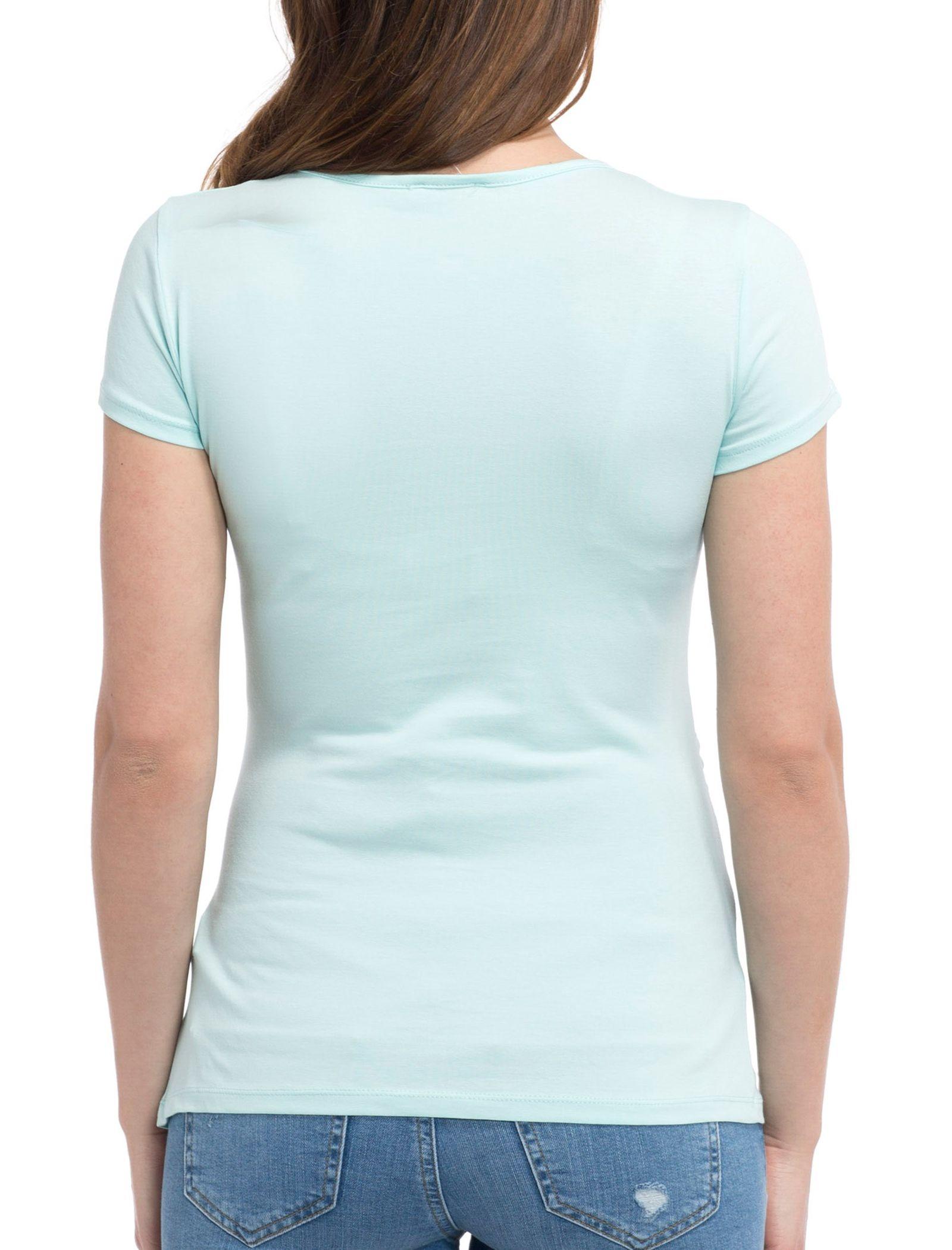 تی شرت نخی ساده بارداری - ال سی وایکیکی - آبي روشن - 2