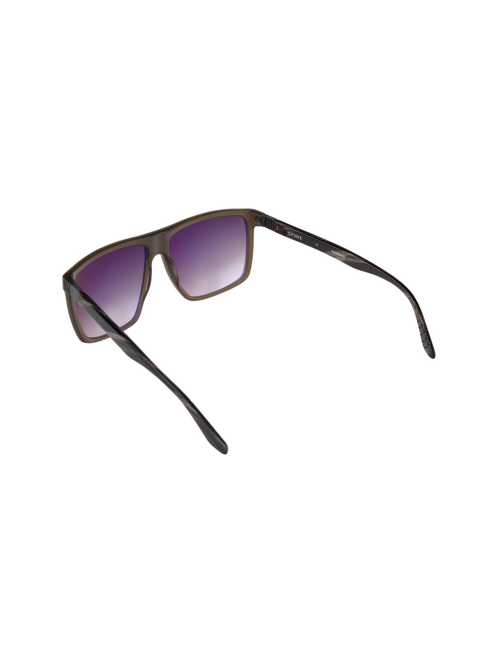 عینک آفتابی ویفرر مردانه - اسپاین - قهوه اي شفاف - 4