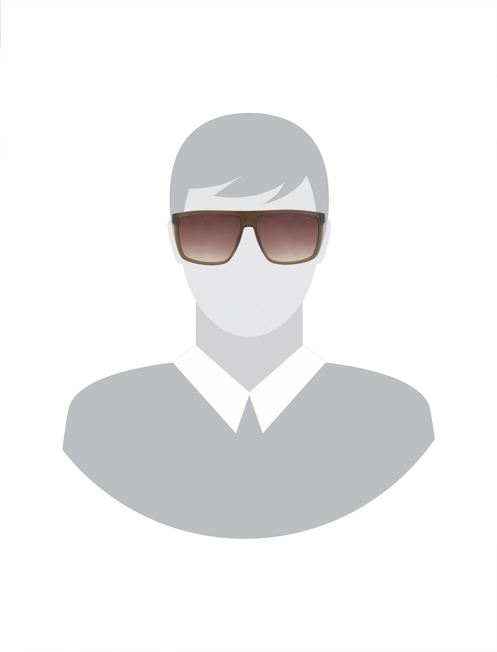 عینک آفتابی ویفرر مردانه - اسپاین - قهوه اي شفاف - 6