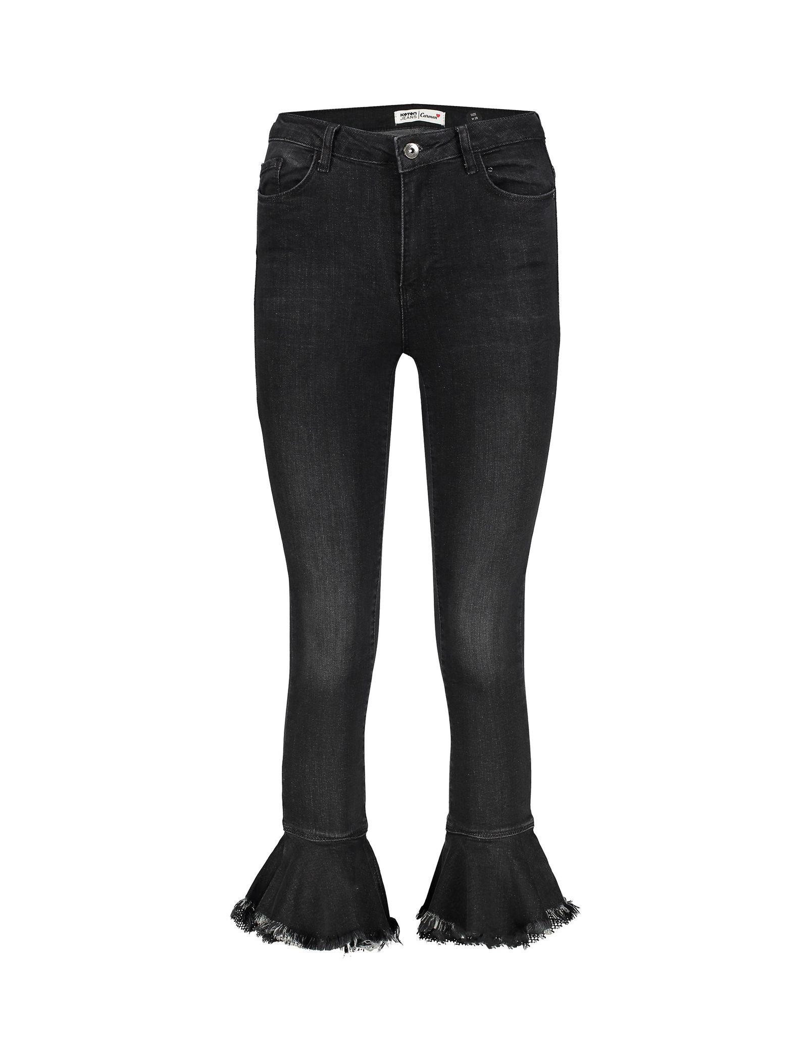شلوار جین دم پا گشاد زنانه - کوتون - مشکي - 1