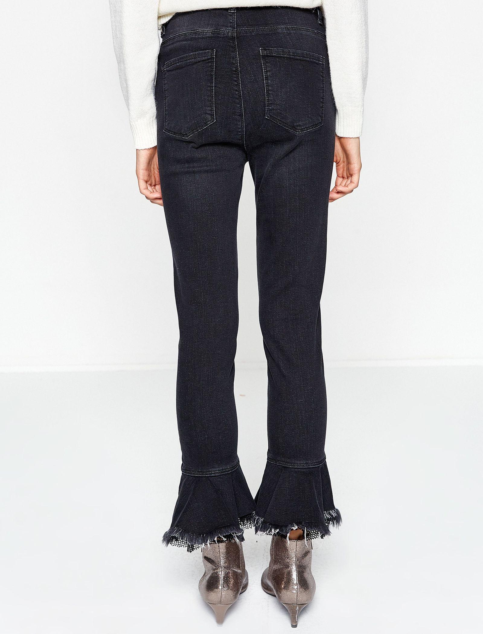 شلوار جین دم پا گشاد زنانه - کوتون - مشکي - 5
