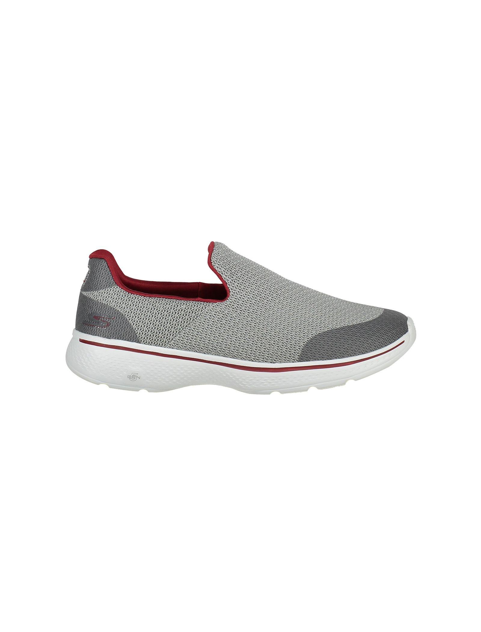 کفش پیاده روی پارچه ای مردانه GOwalk 4 Expert - اسکچرز - طوسي - 1