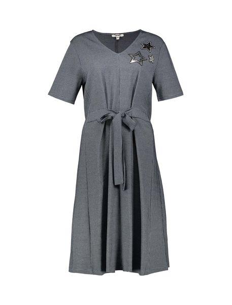 پیراهن نخی میدی زنانه - آبي - 1