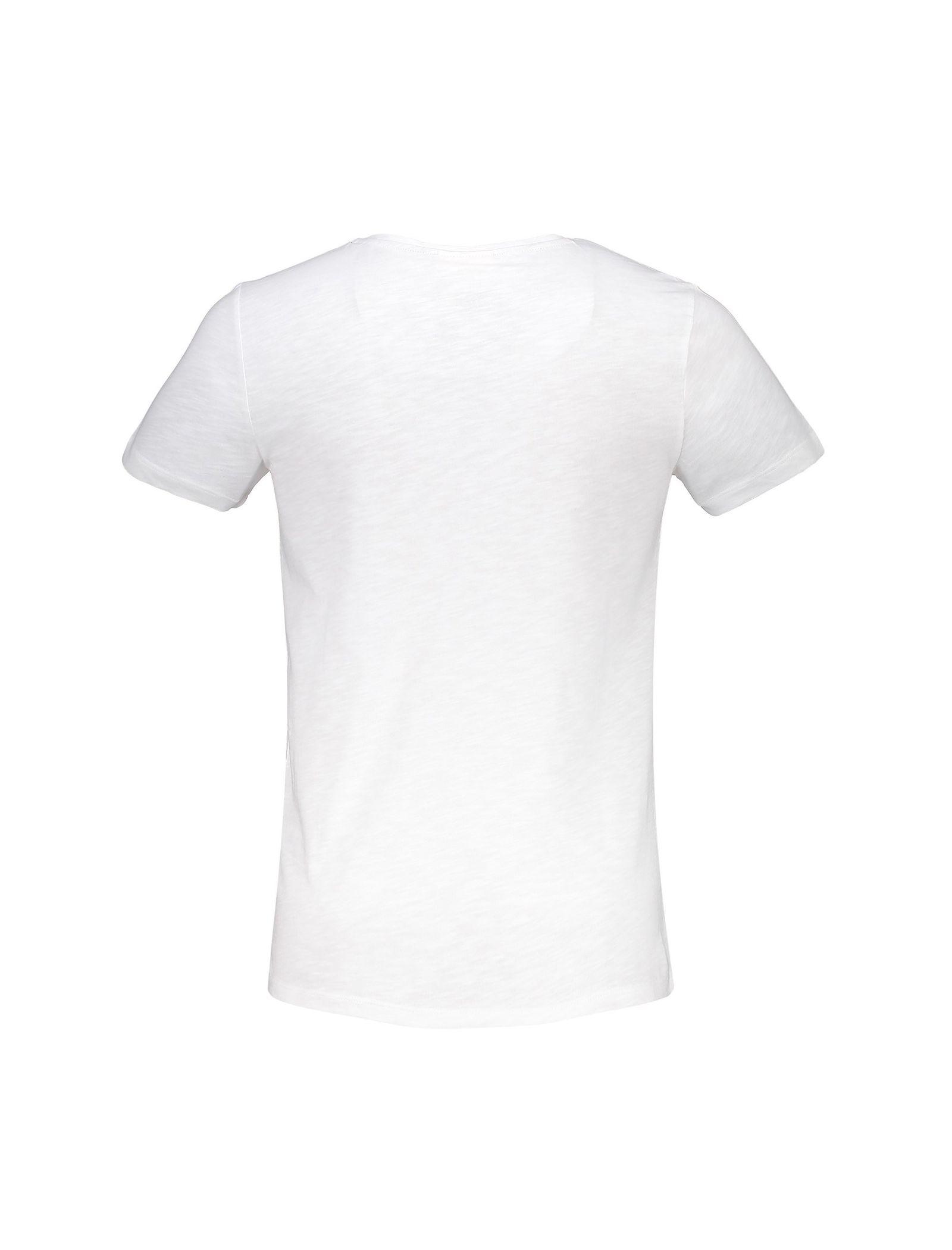 تی شرت نخی یقه گرد مردانه - ال سی وایکیکی - سفيد - 2