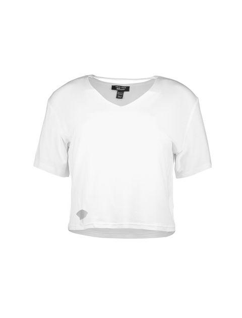 تی شرت ویسکوز آستین کوتاه دخترانه - سفيد - 1