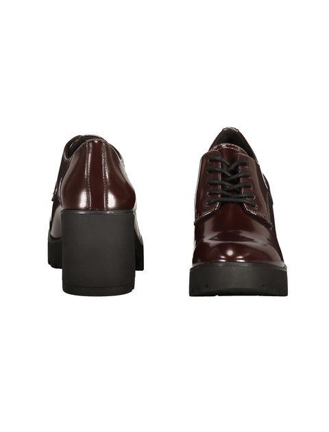 کفش پاشنه بلند زنانه - زرشکي - 5