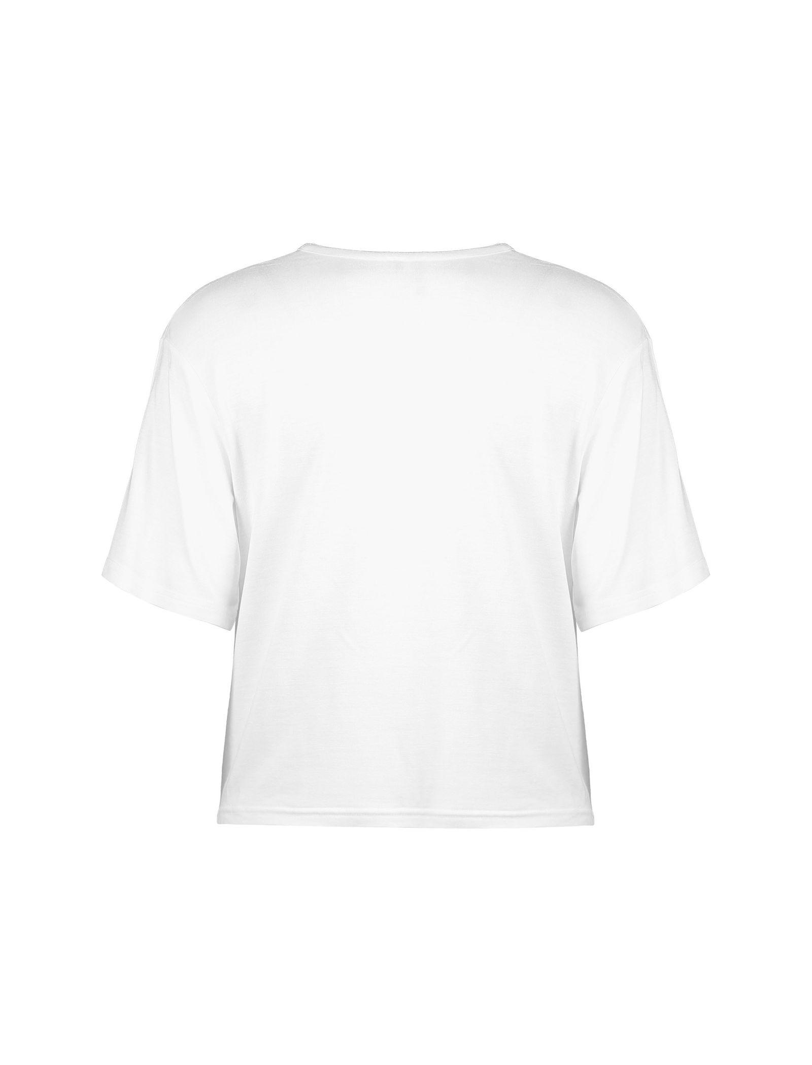تی شرت ویسکوز آستین کوتاه دخترانه - نیو لوک - سفيد - 2