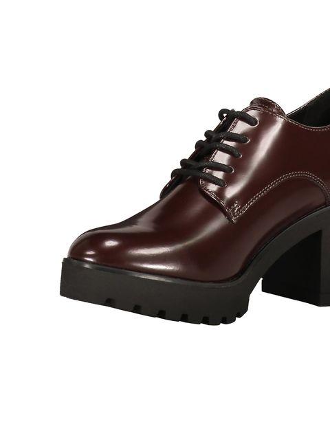 کفش پاشنه بلند زنانه - زرشکي - 6