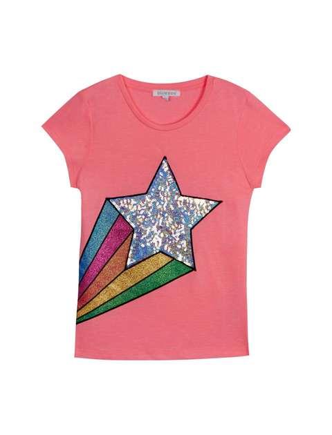 تی شرت نخی یقه گرد دخترانه - بلوزو
