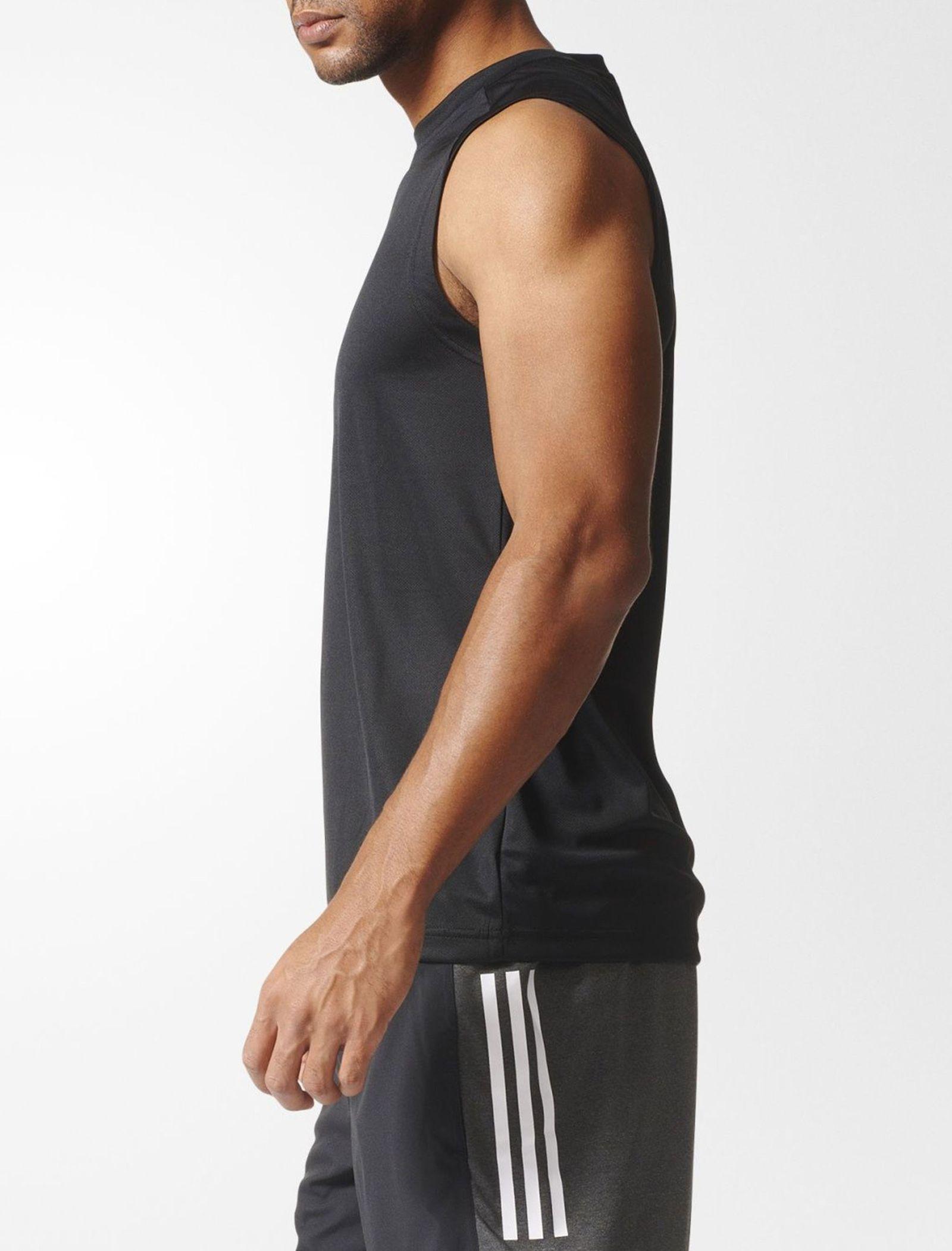 تاپ ورزشی یقه گرد مردانه BVD Sporty Design To Move PLAIN - آدیداس - مشکي - 3