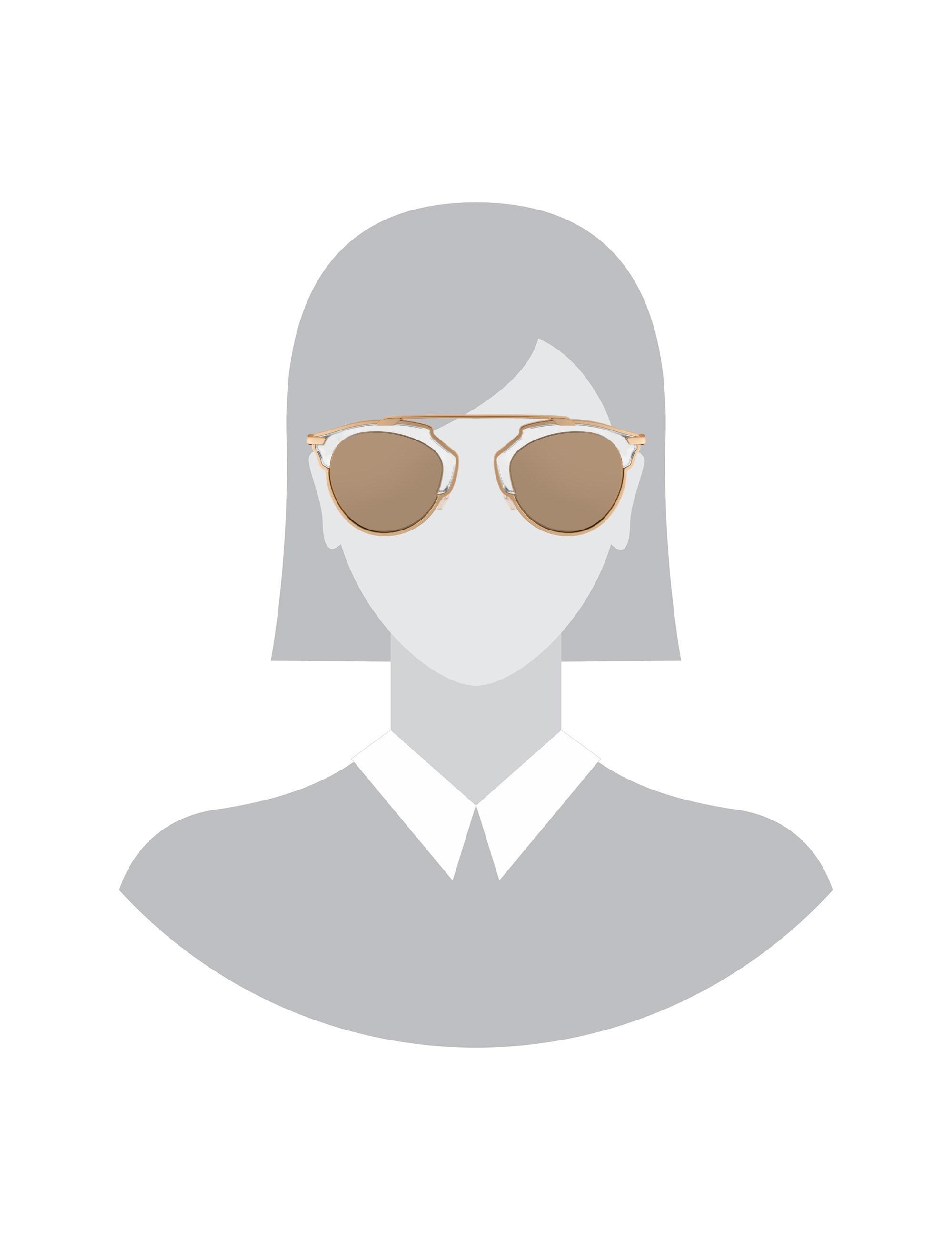 عینک آفتابی پنتوس زنانه - دیور - طلايي  - 5