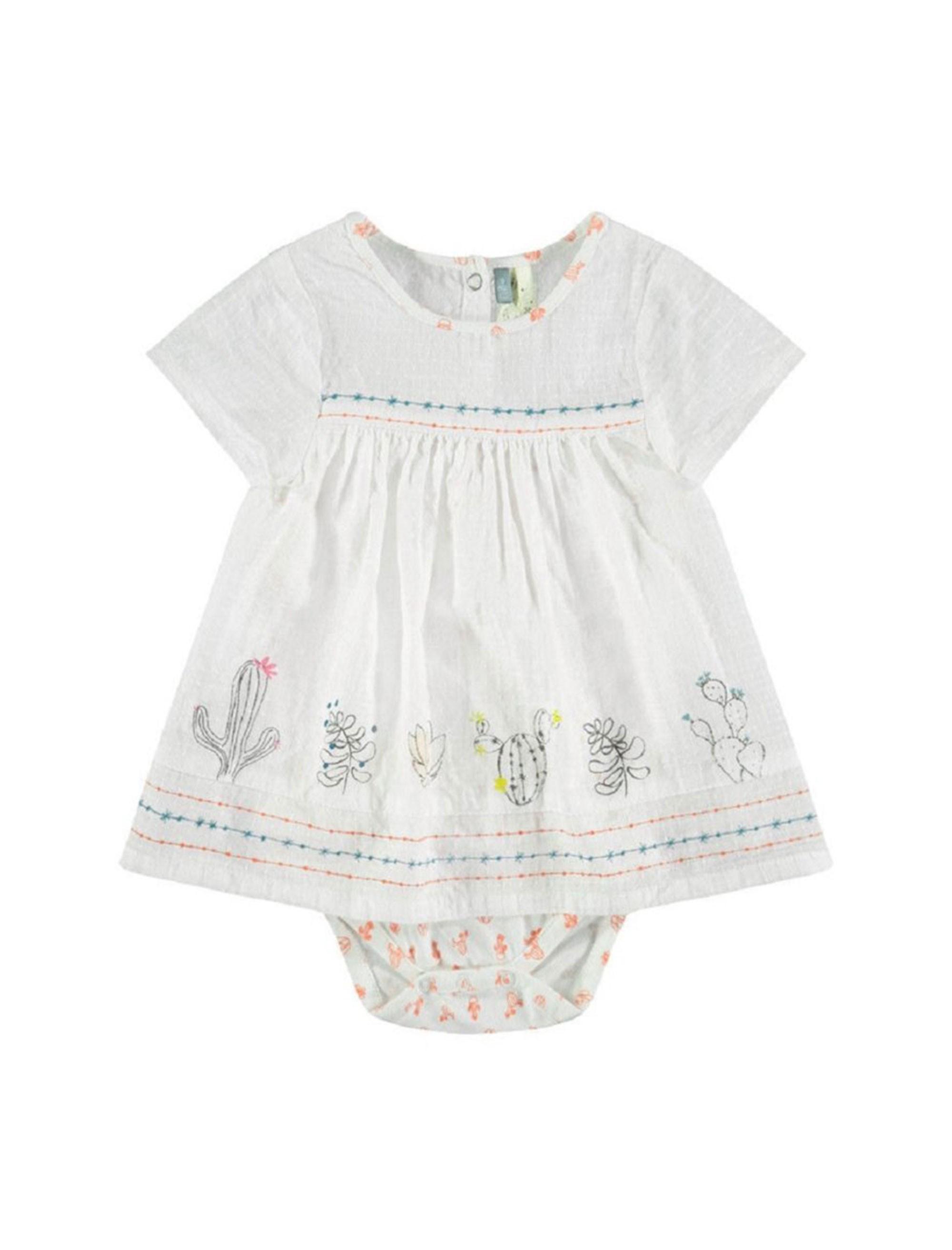 پیراهن و شورت نوزادی دخترانه - ارکسترا - سفيد - 1