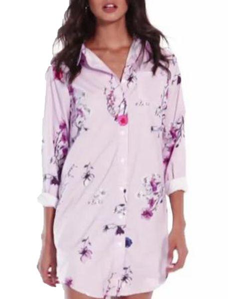 پیراهن کوتاه زنانه - صورتي - 5