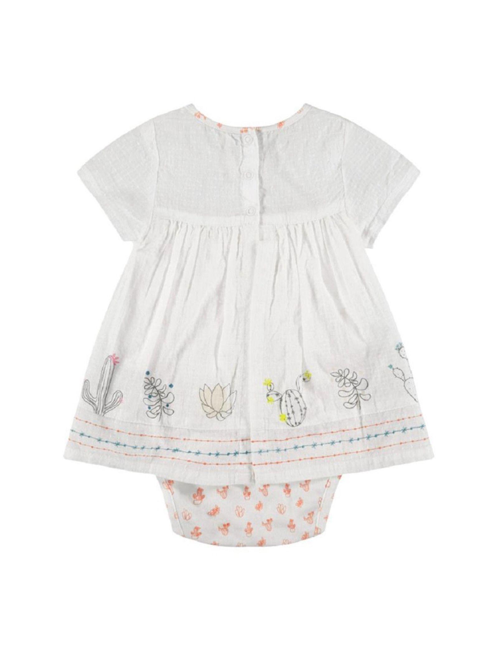 پیراهن و شورت نوزادی دخترانه - ارکسترا - سفيد - 2