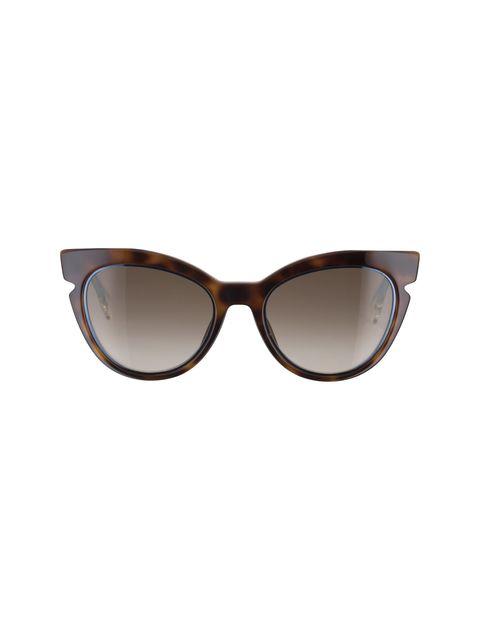 عینک آفتابی گربه ای زنانه - فندی - قهوه اي و آبي - 1