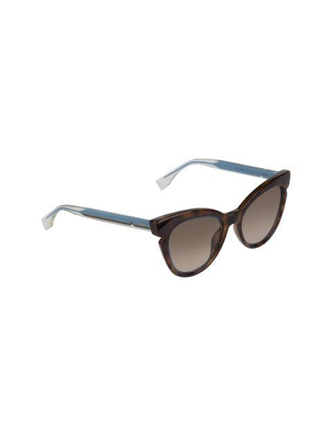 عینک آفتابی گربه ای زنانه - فندی - قهوه اي و آبي - 2