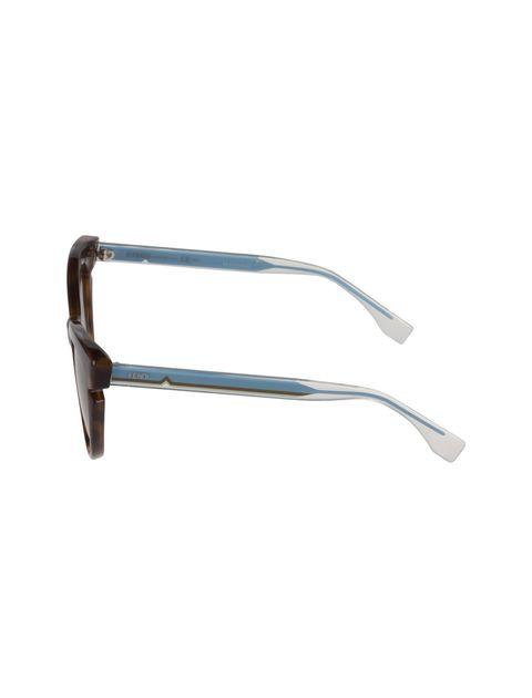 عینک آفتابی گربه ای زنانه - فندی - قهوه اي و آبي - 3