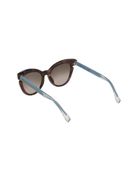 عینک آفتابی گربه ای زنانه - فندی - قهوه اي و آبي - 4