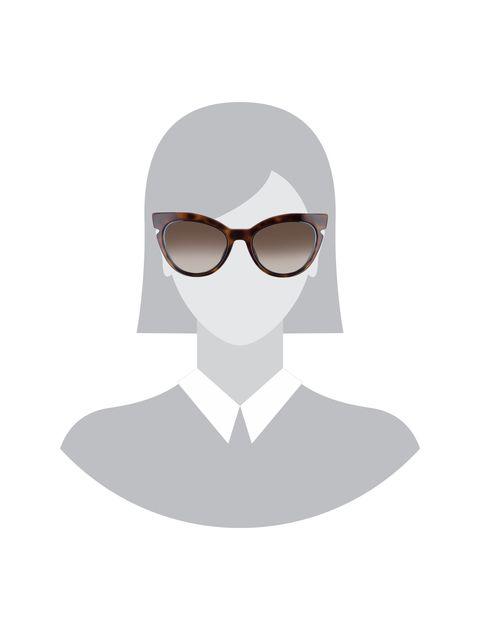 عینک آفتابی گربه ای زنانه - فندی - قهوه اي و آبي - 5