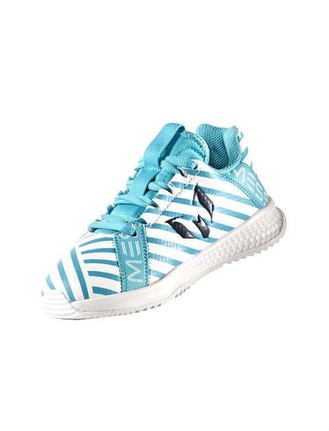 کفش فوتبال بندی پسرانه RapidaTurf Messi - آبي و سفيد - 4