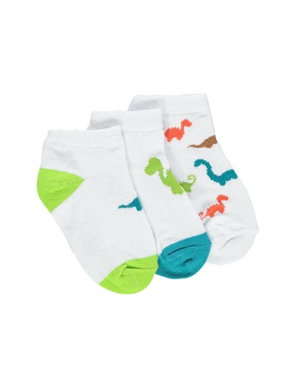 جوراب نخی ساده نوزادی بسته 3 عددی