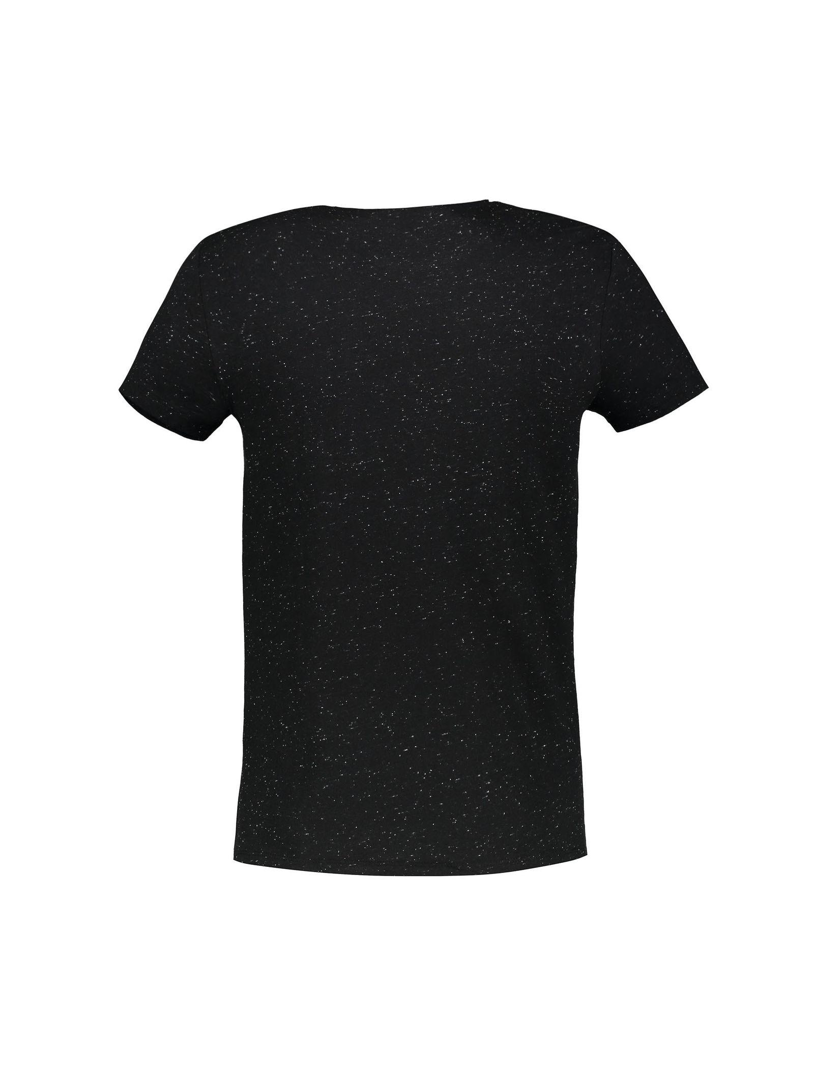 تی شرت نخی یقه گرد مردانه - ال سی وایکیکی - مشکي - 2