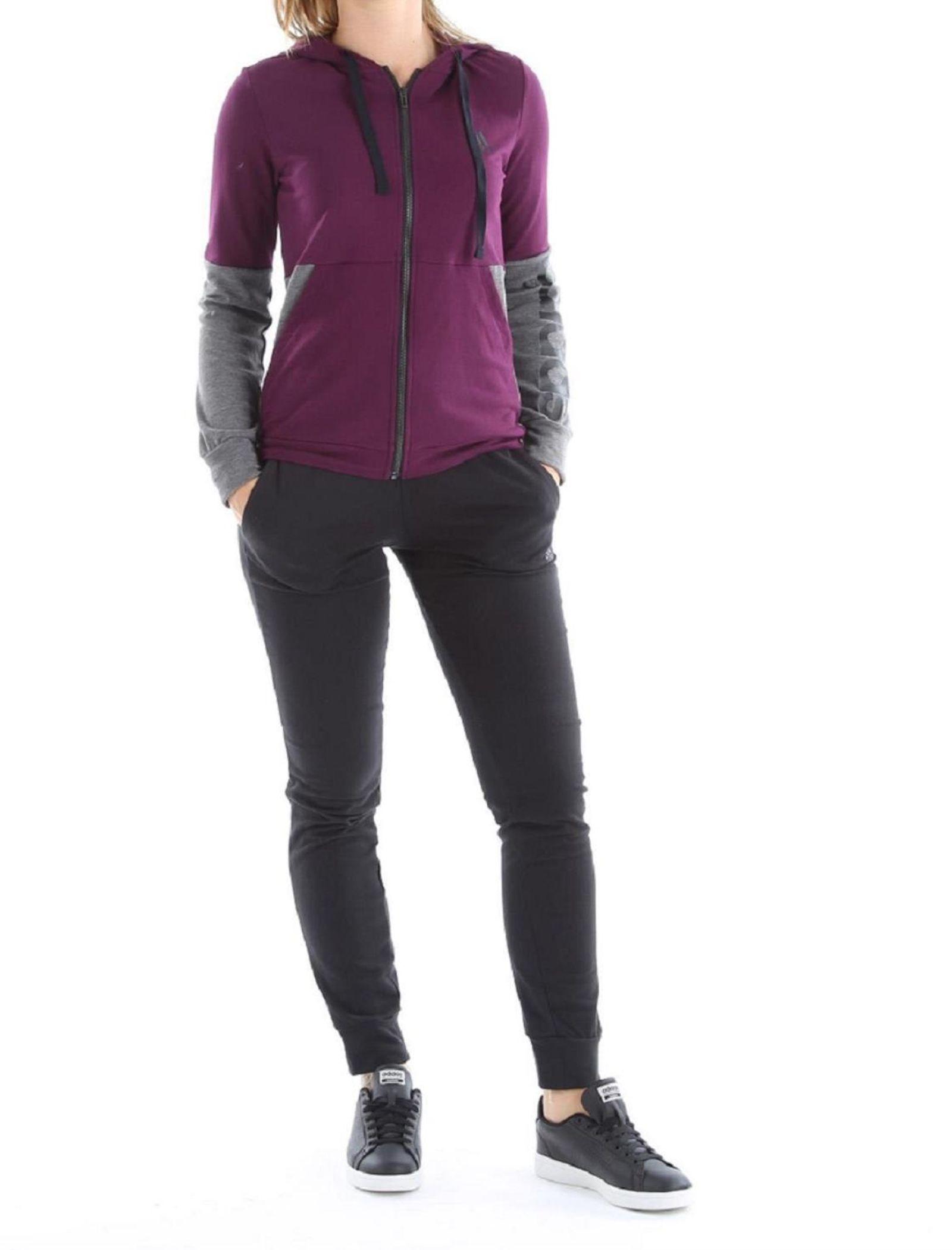 ست گرمکن ورزشی نخی زنانه - آدیداس - بنفش - 2