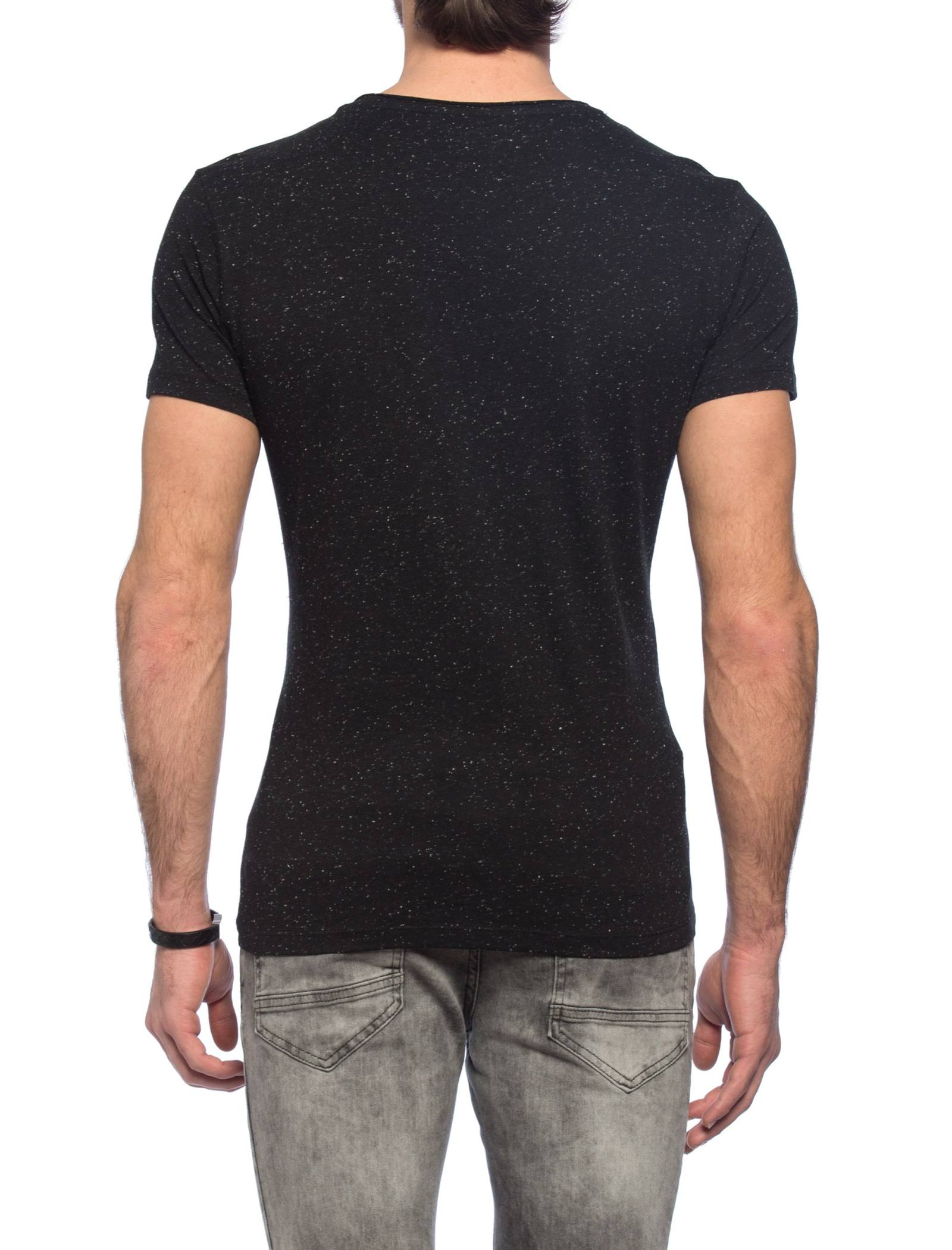 تی شرت نخی یقه گرد مردانه - ال سی وایکیکی - مشکي - 6