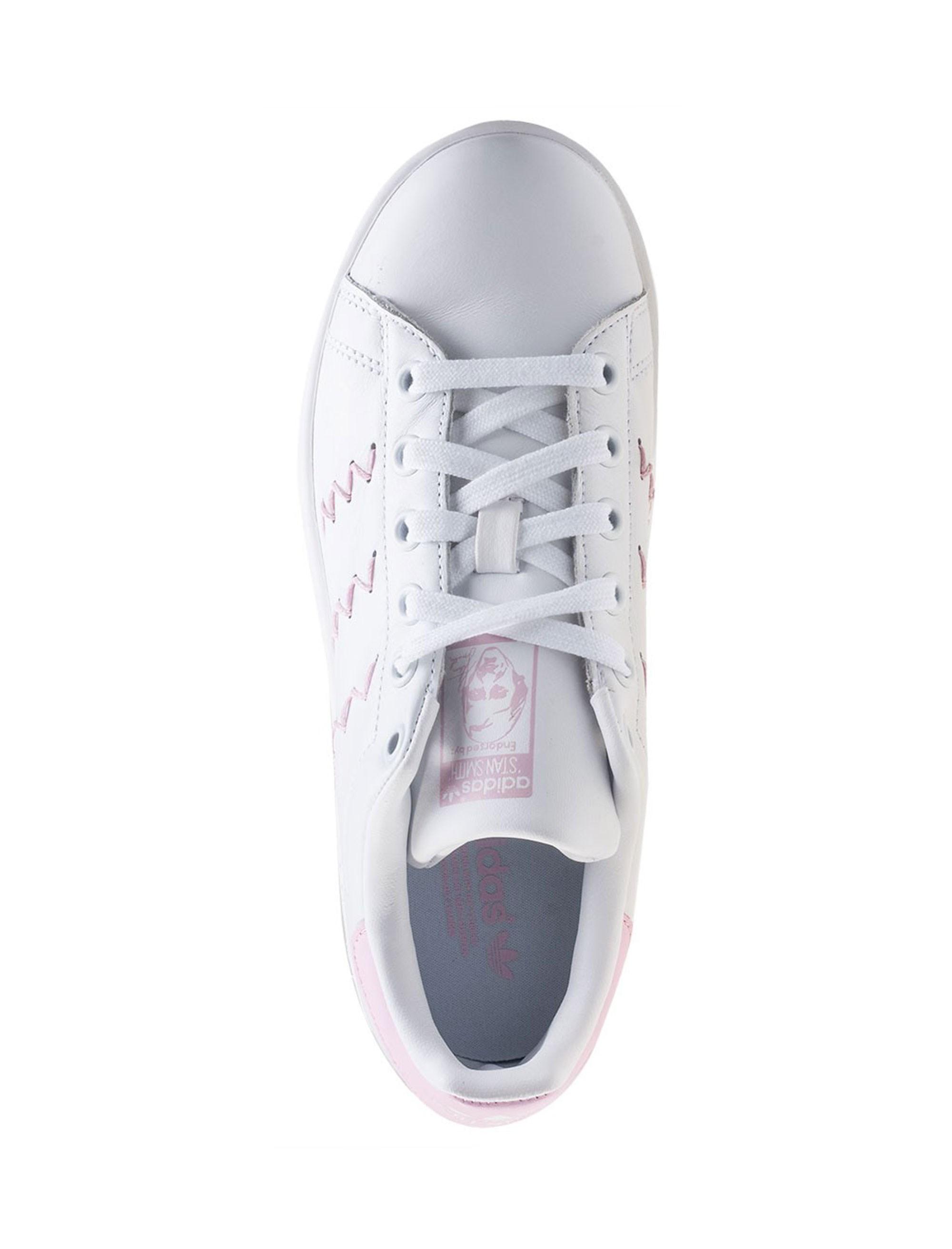 کفش راحتی زنانه آدیداس مدل BZ0401 - سفيد و صورتي - 2