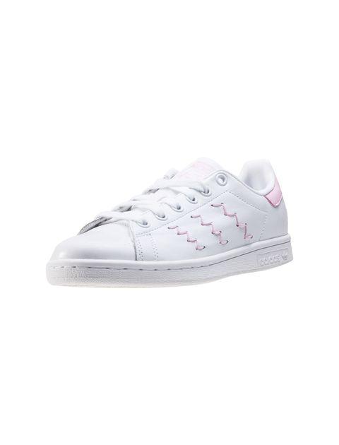 کفش راحتی زنانه آدیداس مدل BZ0401 - سفيد و صورتي - 4