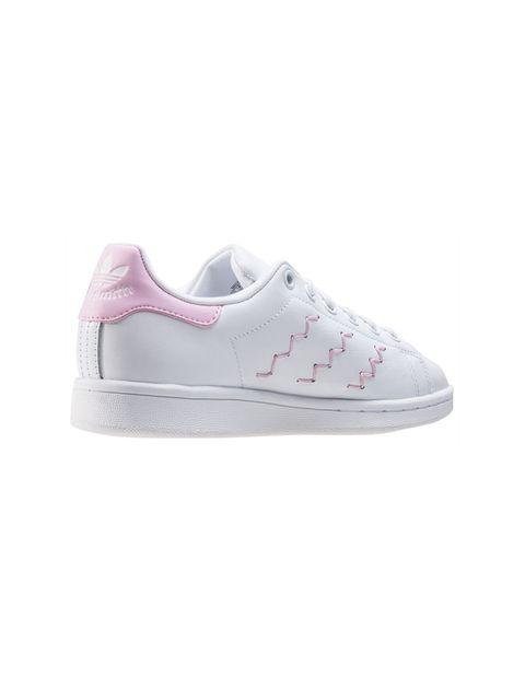 کفش راحتی زنانه آدیداس مدل BZ0401 - سفيد و صورتي - 5